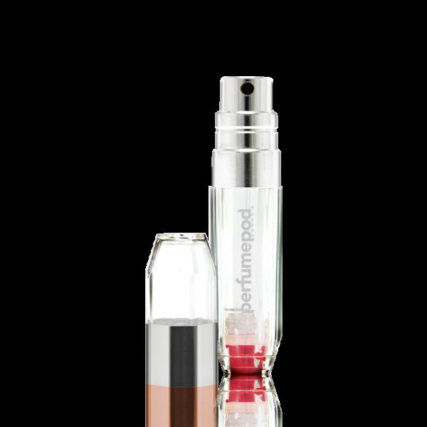 Perfume Pod Crystal Silver